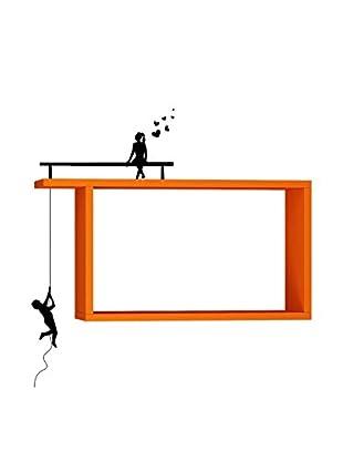Matte Maison  Regalbrett Boy And Girl orange