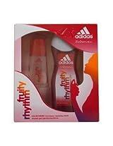 Adidas 2 Piece Gift Set Fruity Rhythm (1 Ounce Eau de Toilette Spray 8.4 Ounce Shower Gel)