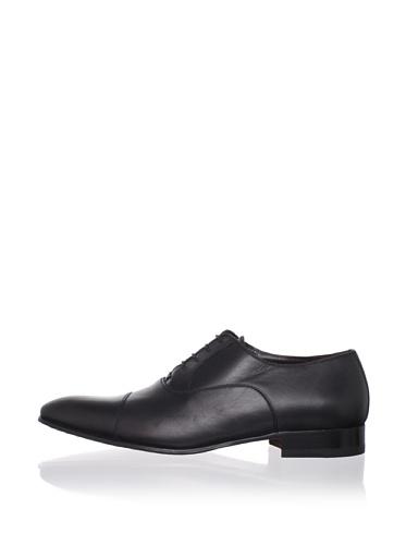 a.testoni BASIC Men's Cap-Toe Oxford (Nero)