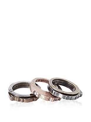 BOTTEGA VENETA Armband-Set  silber/bronze