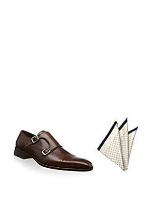 Ortiz & Reed Zapatos monkstrap + Pañuelo de bolsillo SET-ZCP16-PO2