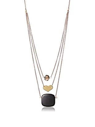 David Aubrey Multi-Layer Brass Chain Pendant Necklace