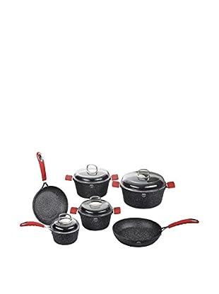 Blaumann Berlingerhaus Batería de cocina 10 Piezas Stone Touch Line Negro