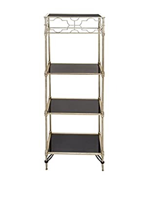 Metal & Glass Shelf, Black