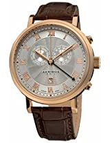 Akribos Chronograph Silver Dial Rose Gold-Tone Mens Watch Ak591Rg