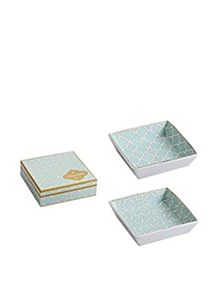 Rosanna Set of 2 Assorted Alhambra Square Trays