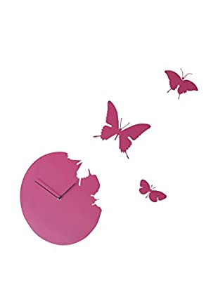 Diamantini & Domeniconi Reloj De Pared Butterfly Magenta