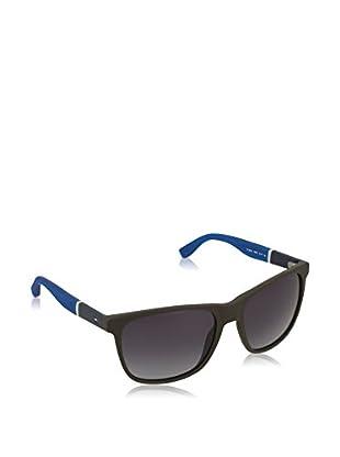 Tommy Hilfiger Gafas de Sol 1281/S HD (54 mm) Marrón Oscuro / Azul