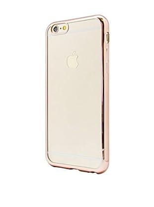 NUEBOO Hülle TPU Gel iPhone 6/6S Color Frame goldfarben