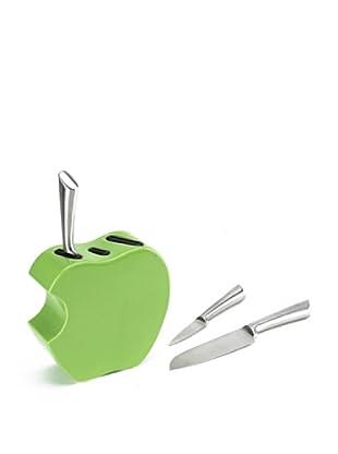 Tognana  Messerblock 4 tlg. Set Antony Apple Kit grün