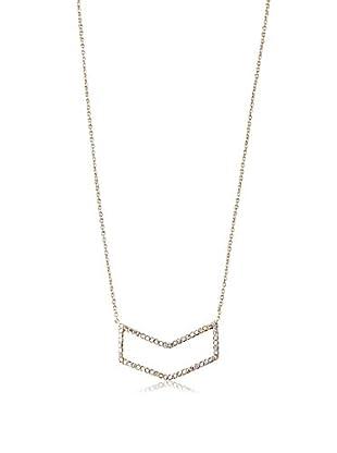Chloe & Theodora Pave Set Arrow Bar Cut-Out Necklace