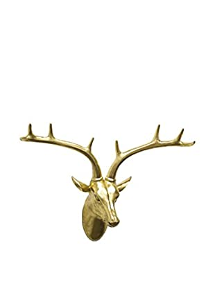 Three Hands Resin Deer Wall Décor, Gold