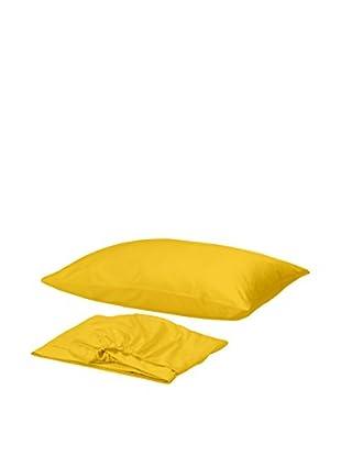 Homemania Betttuch und Kissenbezug gelb 150 x 240 cm