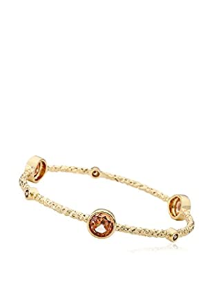 Riccova Arctic Mist 14K Gold Plated Bangle with Champagne Circles