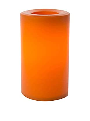 Candle Impressions Flameless Candle Outdoor Pillar with Timer, Orange