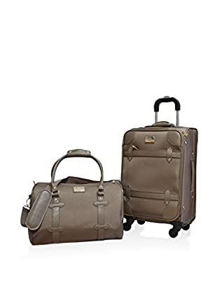 Adrienne Vittadini Metro Collection 2-Piece Carry-On Set, Taupe