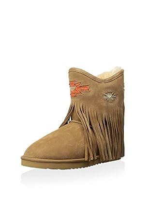 Koolaburra Women's Haley Ankle Deco Boot (Chestnut)