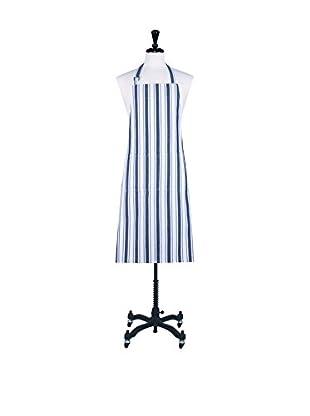 KAF Home Classic Stripe Apron, White/Blue