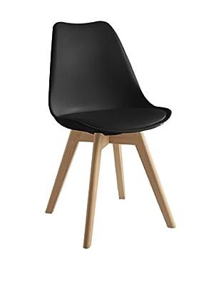 TOPAMBIENTES Stuhl 2er Set schwarz