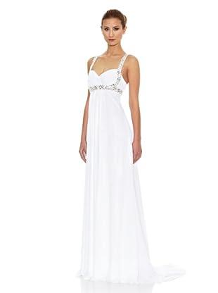 KOTOSH Vestido de Novia Corte Imperio Escote Corazón (Blanco)