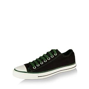 Converse Unisex Black & Green Canvas Sneakers 502821