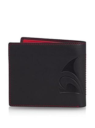 PHILIPPE VANDIER Brieftasche Logo schwarz/rot