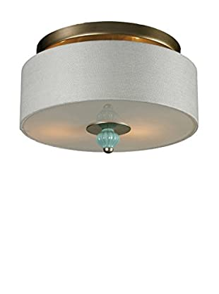 Artistic Lighting Lilliana 2-Light Semi Flush, Seafoam/Aged Silver