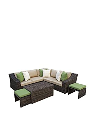 AE Outdoor Williams 8-Piece Sectional Set, Tan