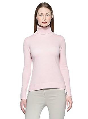 Ballantyne Kaschmirpullover Dolcevita (rosa)