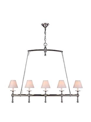 Urban Lights Liberty 5-Light Pendant Lamp, Polished Nickel