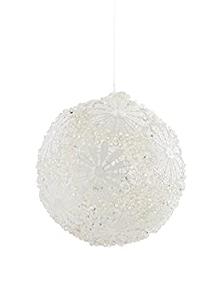 Winward Ice Lace Ornament, White/Clear, 5