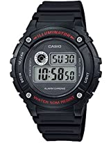 Casio Youth Digital Digital Black Dial Men's Watch - W-216H-1AVDF (I084)