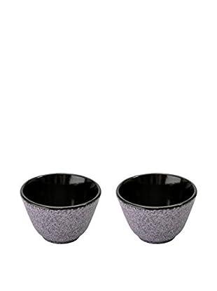 BergHOFF Studio Set of 2 Cast Iron Small Tea Cups, Purple