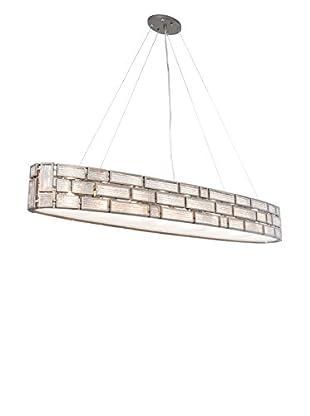 Varaluz Harlowe 6-Light Linear Pendant, New Bronze/Textured Ice