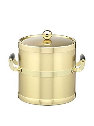Kraftware Brushed Brass 3-Qt. Double Handled Ice Bucket