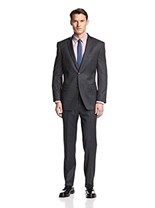Marc Andrew Marc Men's Twill Two Button Suit