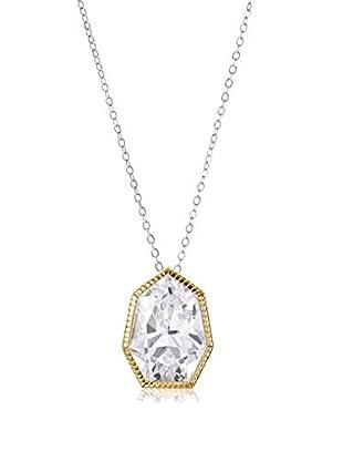 CZ by Kenneth Jay Lane Polygon CZ Pendant Baroque Drop Necklace