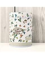Mixed Designs Round Shape Multi-Use Storage Tea Box Coffee Tin