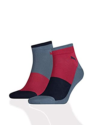 Puma 12tlg. Set Socken Quarter Color Block