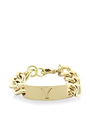 Ettika 18K Gold-Plated Y Initial ID Bracelet