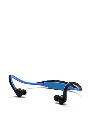 Unotec Auricular Deportivo Bluetooth Azul Con Brazalete Para Smartphone