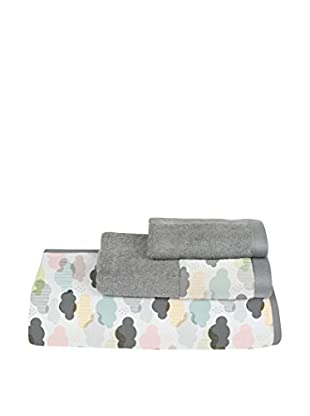 Little Nice Things Handtuch 3er Set Foxes Vison 30 X 50 /50 X 100 /70 X 140 cm