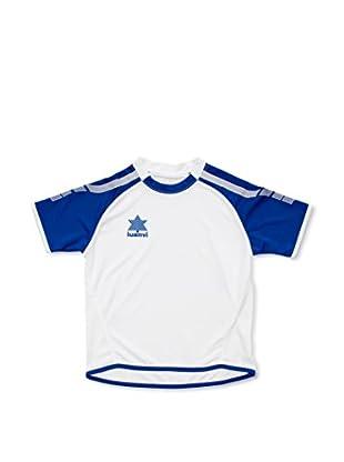 Luanvi Camiseta Manga Corta London (Blanco / Azul)