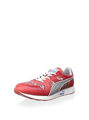 PUMA Men's RS100 Tropicalia Sneaker (High Risk Red/Limestone)