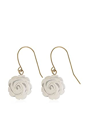 Splendid Flower-Shaped Mother of Pearl Earrings