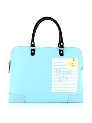 davidelfin Bolso asa de mano Note Briefcase Azul