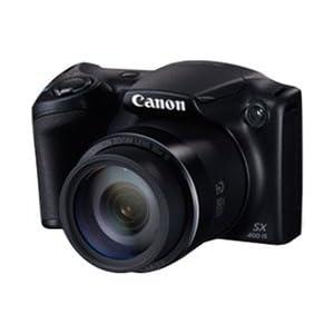 Canon PowerShot SX400 IS Camera, black