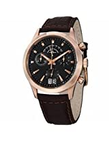 Zeno Gentlemen Chronograph Black Dial Brown Leather Mens Watch 6662-8040Pgr-F1