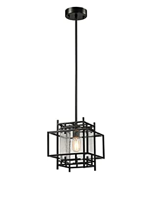 Artistic Lighting Intersections Collection 1-Light Pendant, Oil Rubbed Bronze