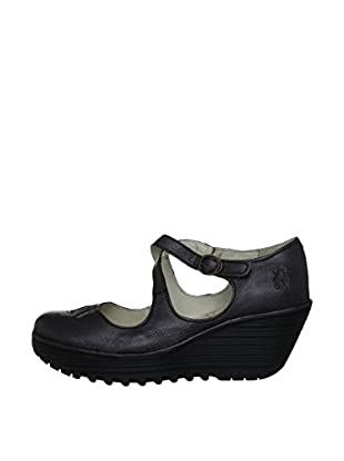 Fly London Zapatos Yate (Negro)